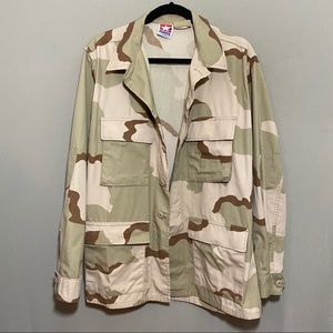 Oversized Lightweight Desert Camouflage Jacket